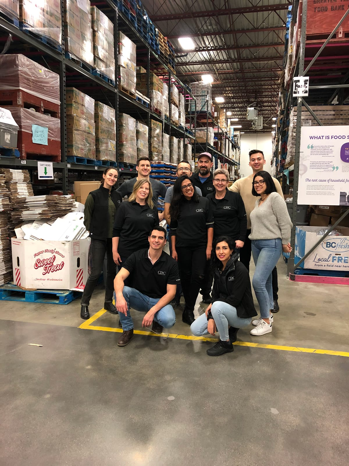 Volunteer teamwork at Greater Vancouver Food Bank's new warehouse in Burnaby