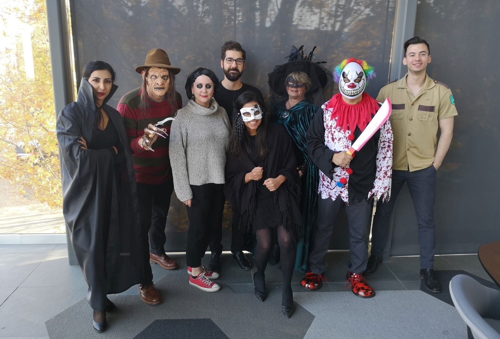 CDC Construction office team dressed in Halloween costumes