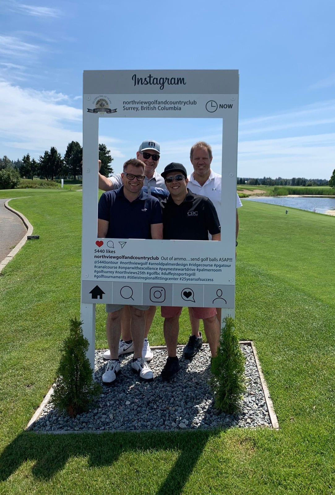 CDC team golfing on a sunny day