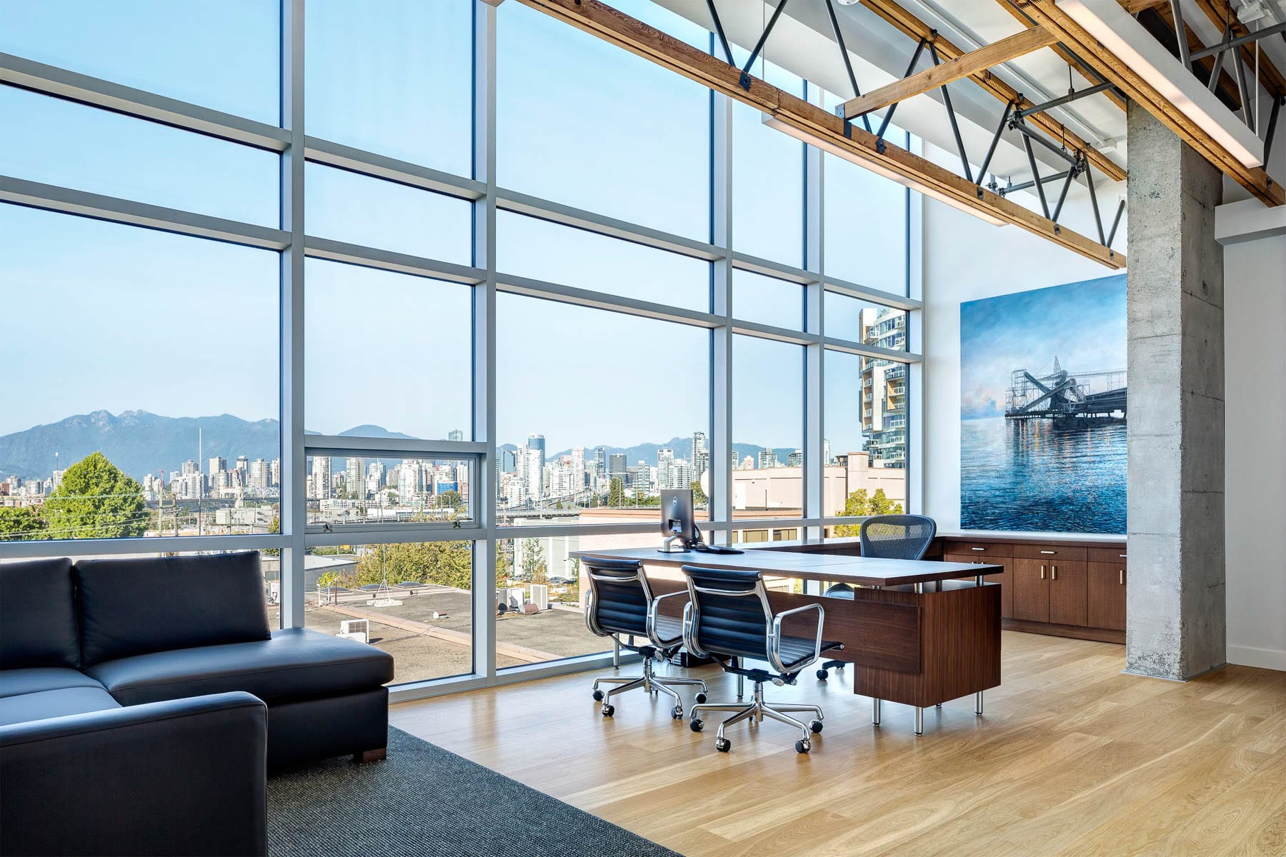 Austeville Properties' new head office looking out to beautiful Vancouver
