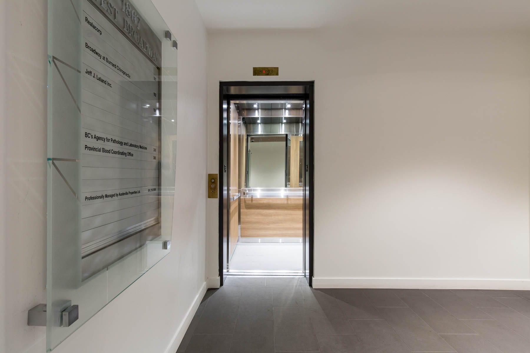 1867 West Broadway refresh project - elevator