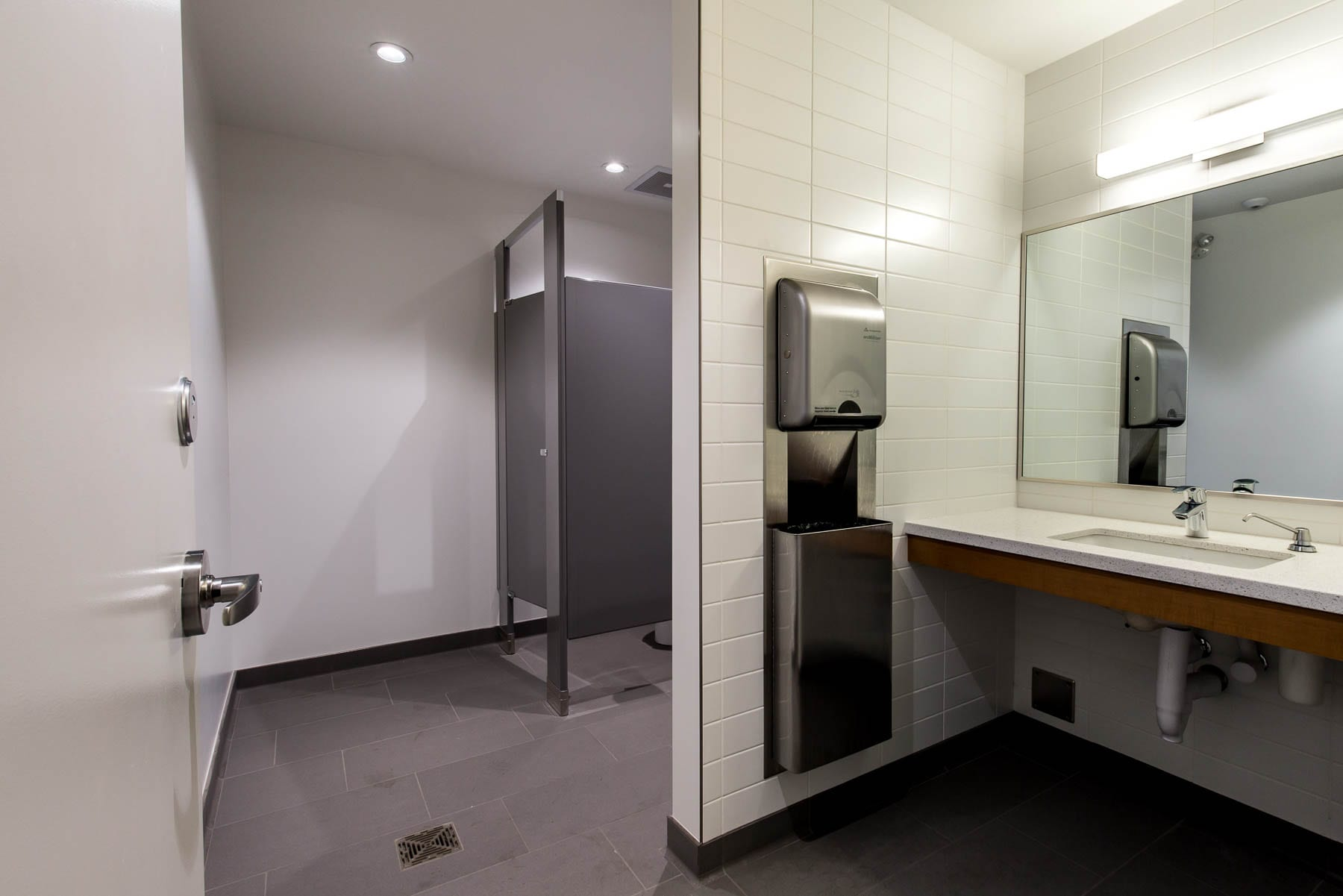 Updated washrooms at 1867 West Broadway