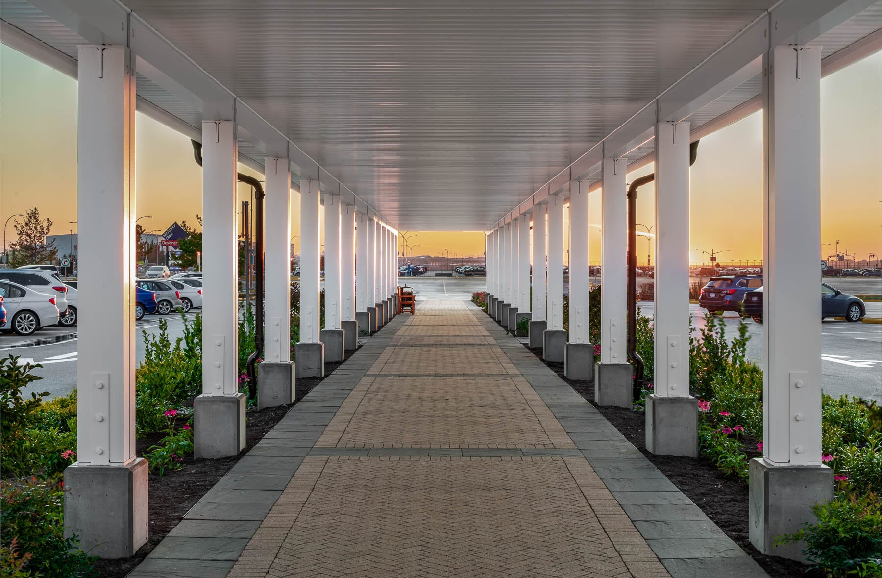 McArthurGlen Designer Outlet's new covered walkway with premium outdoor finishes