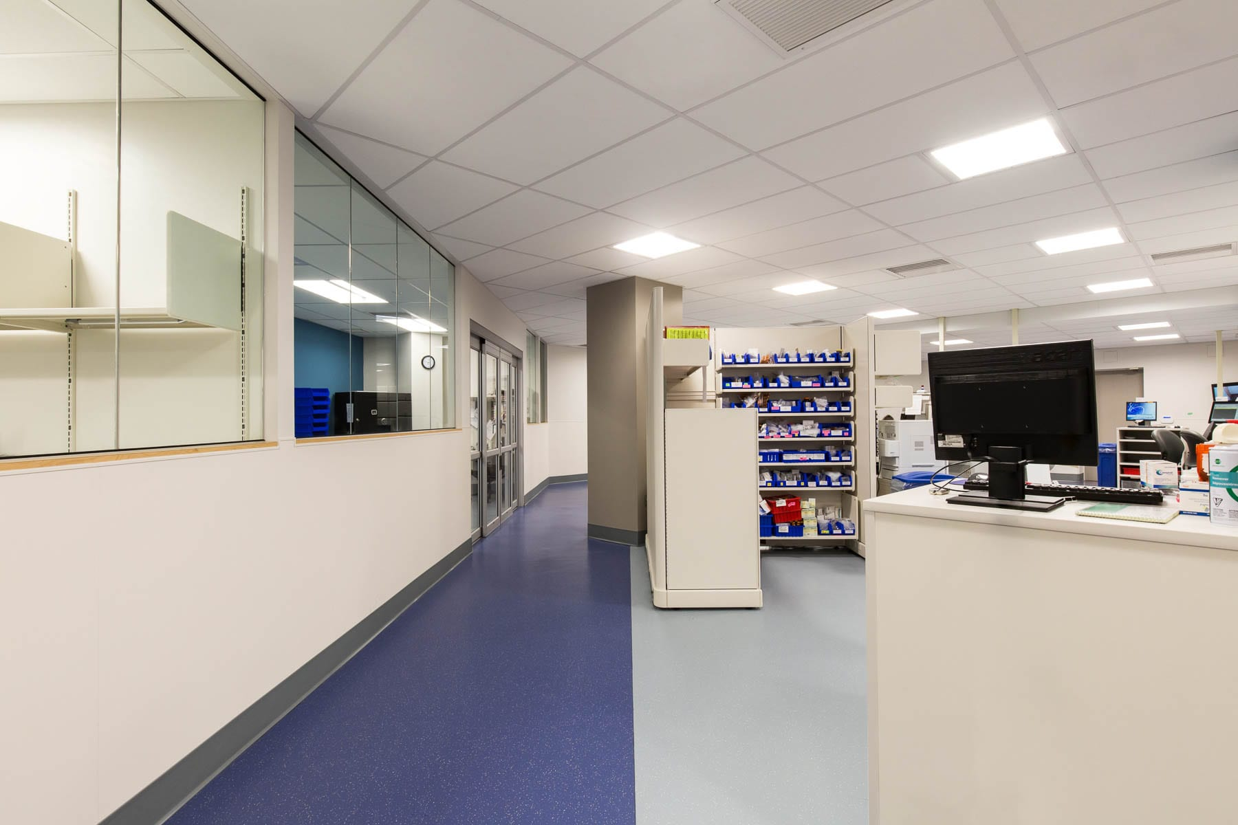 Work room at VGH's regional pharmacy distribution centre