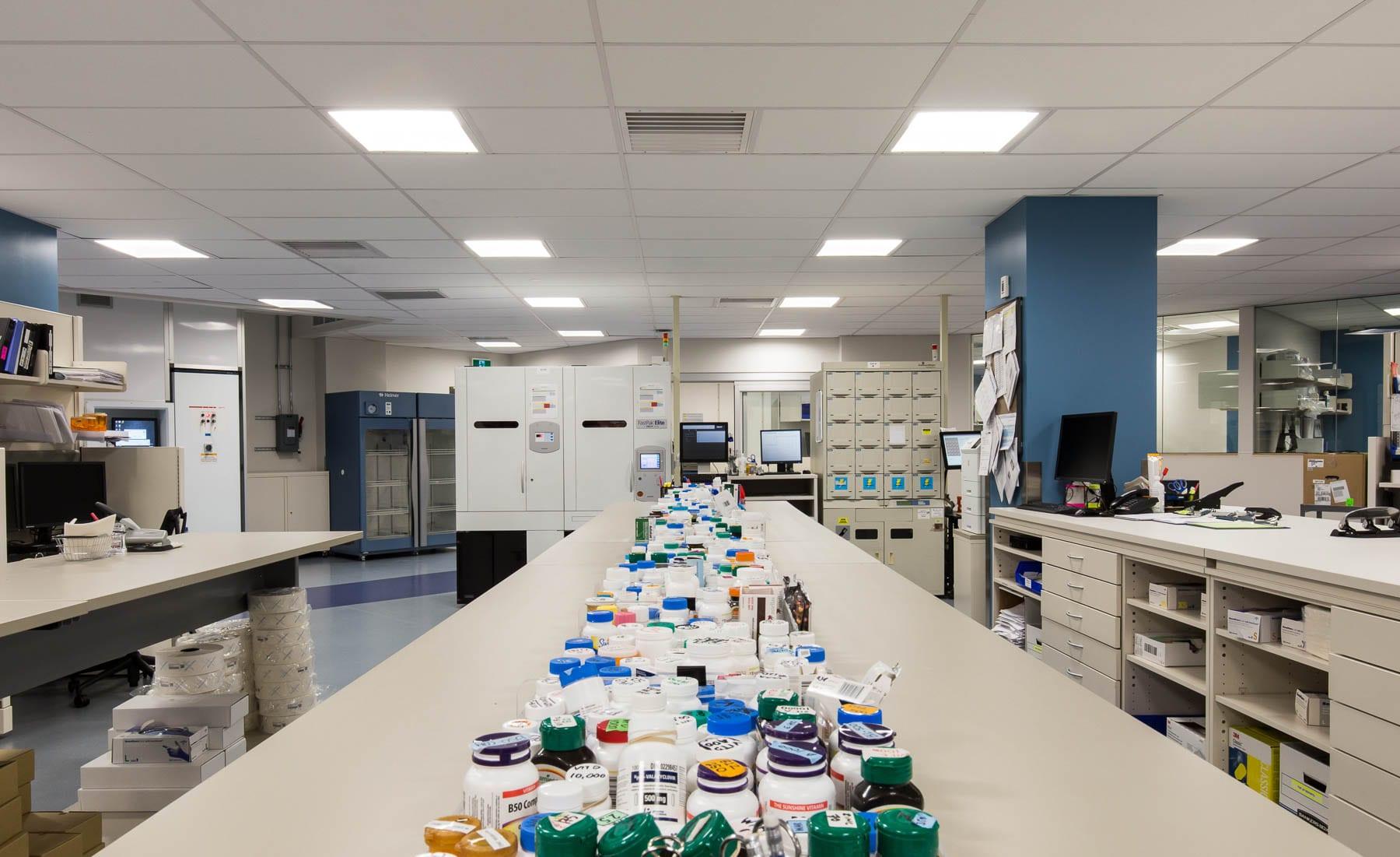 Main work room at VGH's regional pharmacy distribution centre