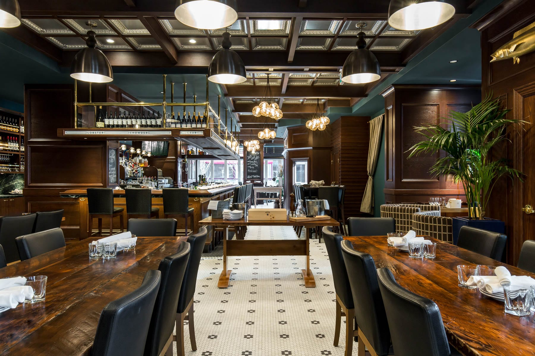 Wildtale restaurant interior with high end finishes. Construction Management by CDC Construction