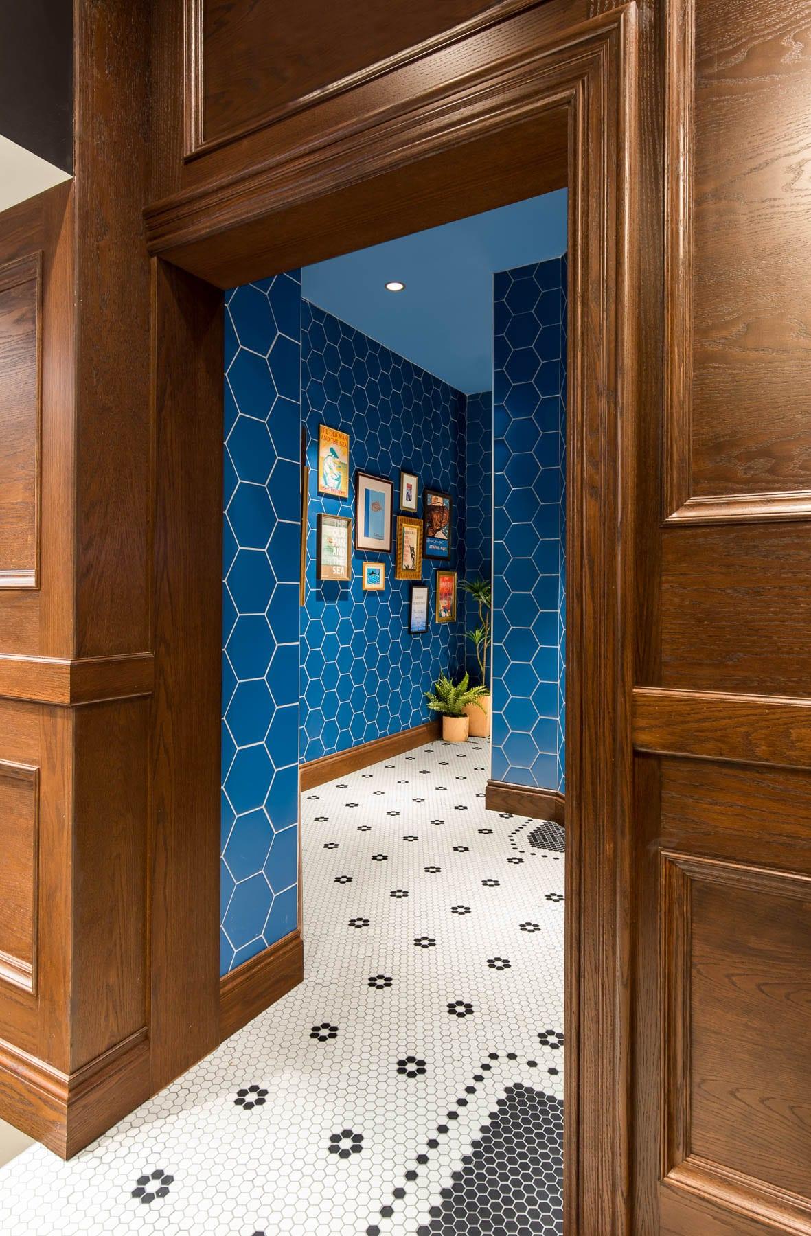 WildTale Restaurant with mosaic floor tiles - corridor to restrooms