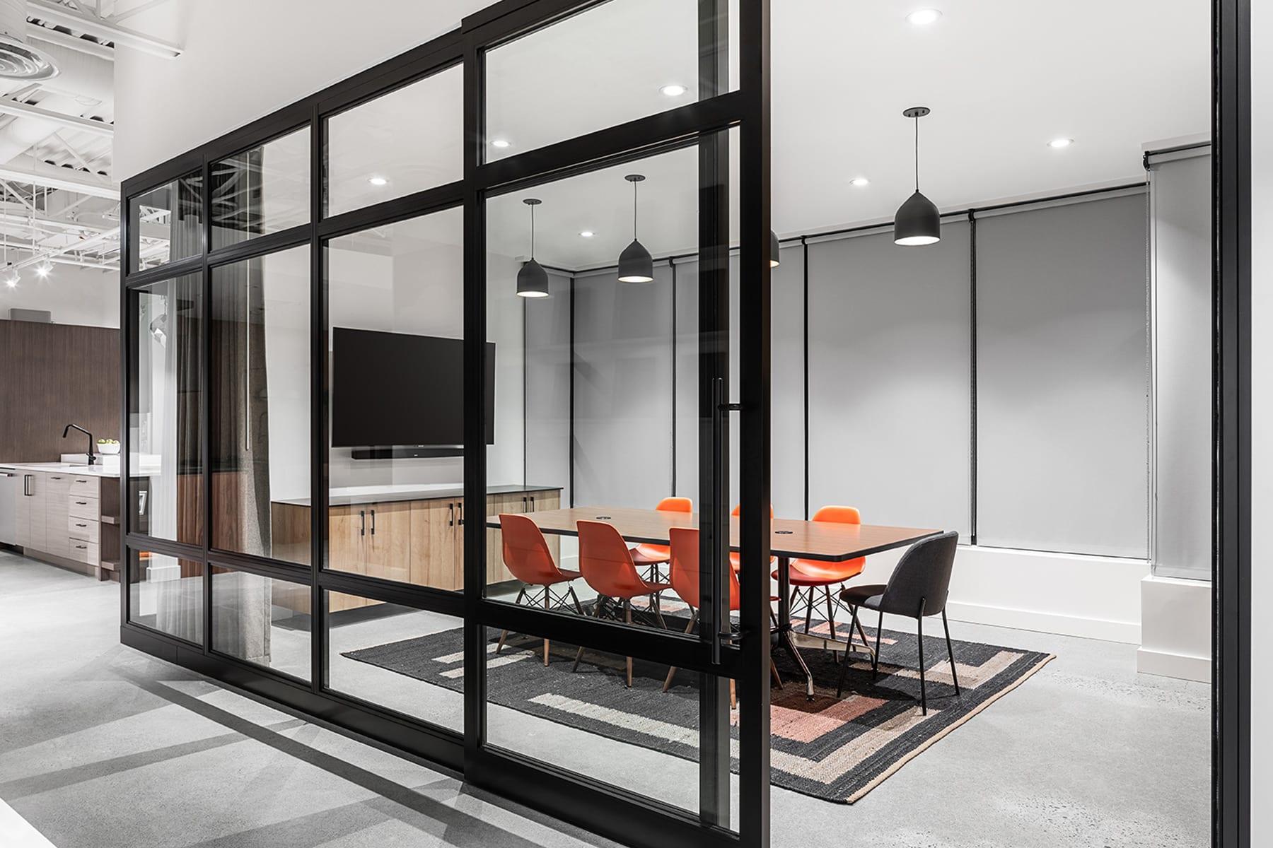 Richmond Kitchen Art Design Meeting Room with Demountable, Modular Partitions