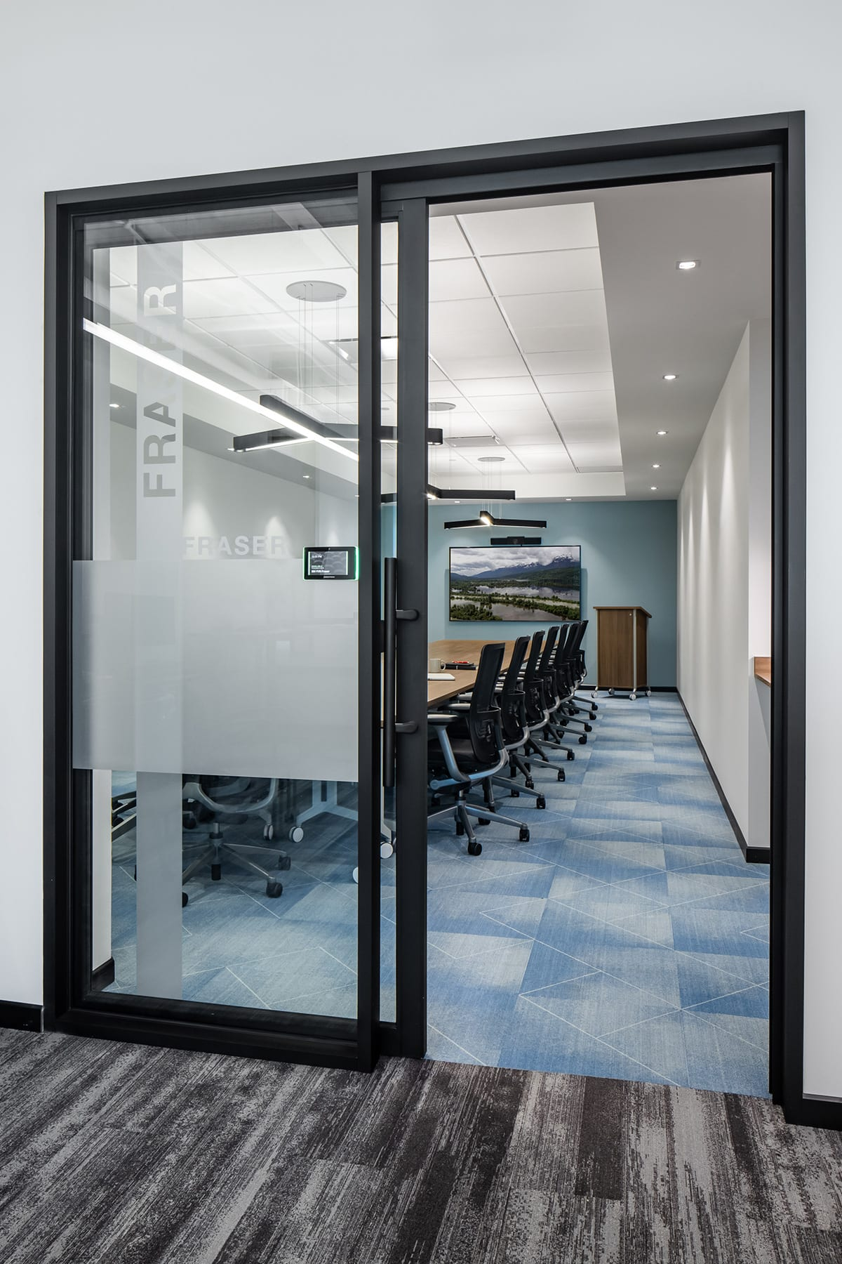 Corporate boardroom for GHD with glazing partition