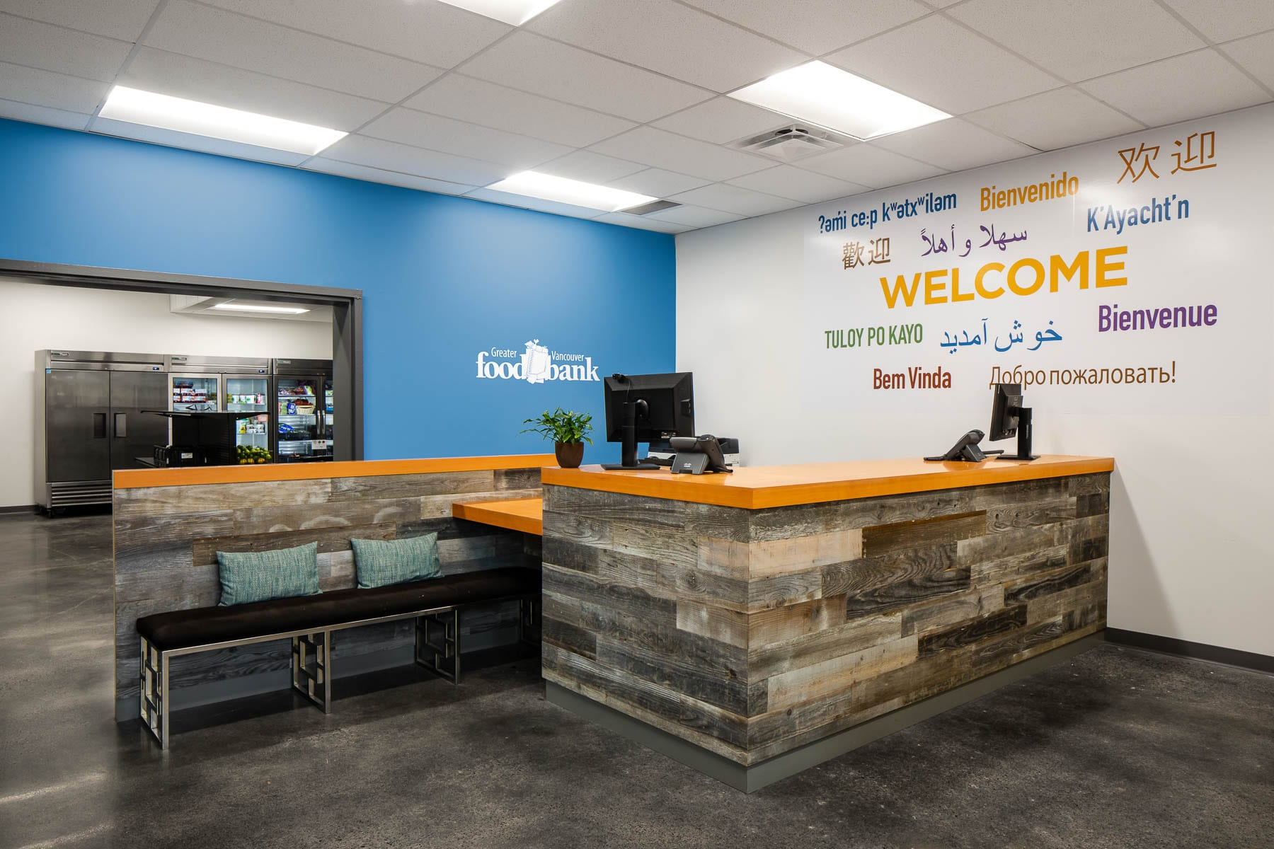 New Burnaby Greater Vancouver Food Bank reception area