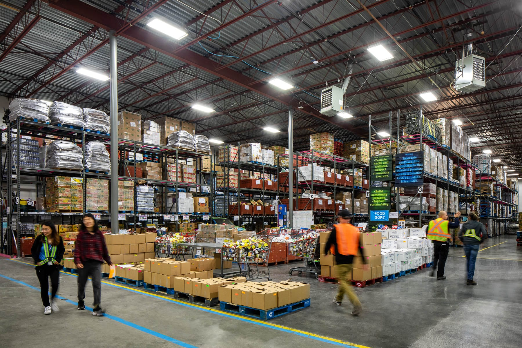 New Burnaby Greater Vancouver Food Bank warehouse facility built by CDC Construction Ltd.