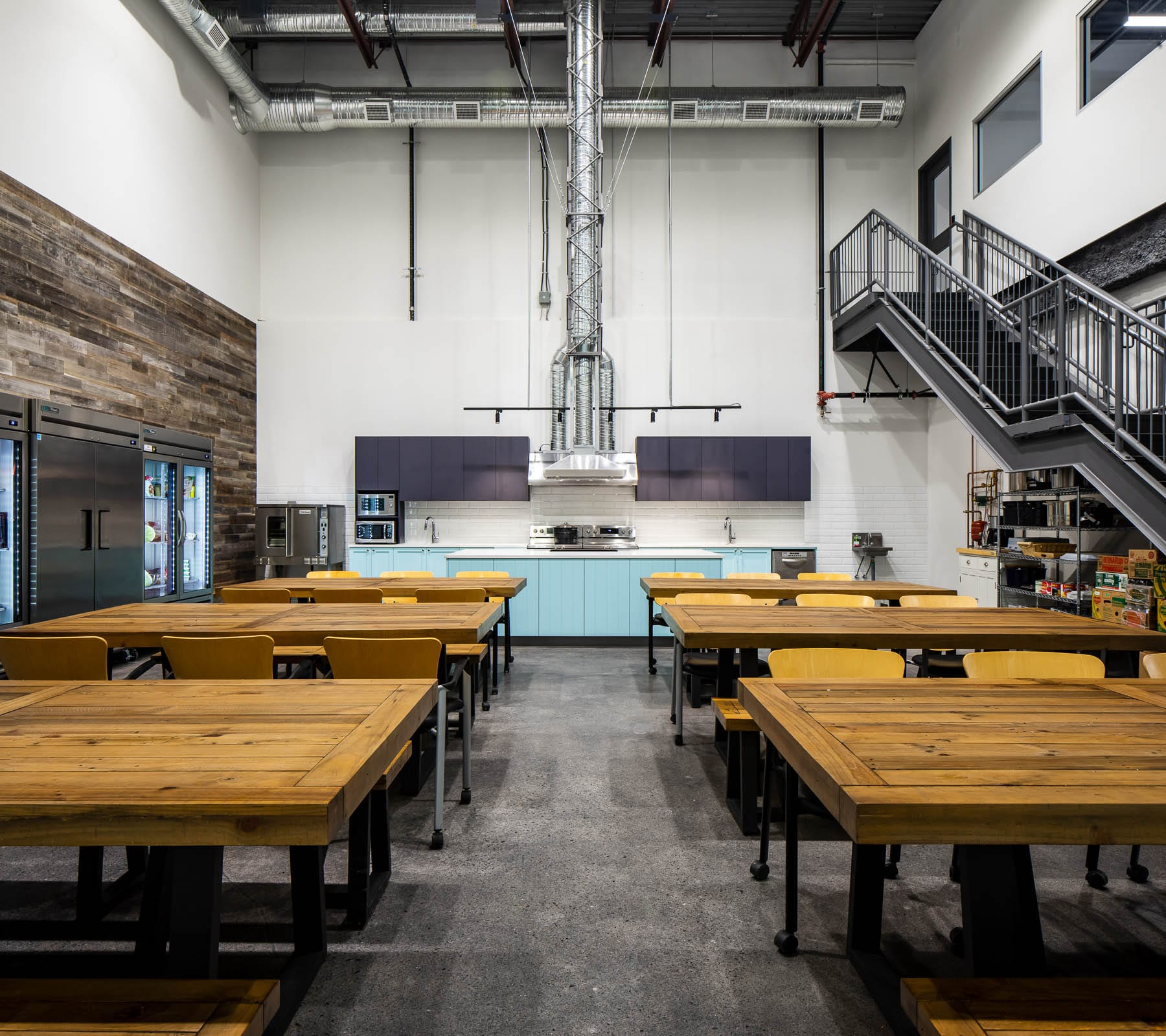 Burnaby Greater Vancouver Food Bank Teaching Kitchen used for events and meal preparation workshops