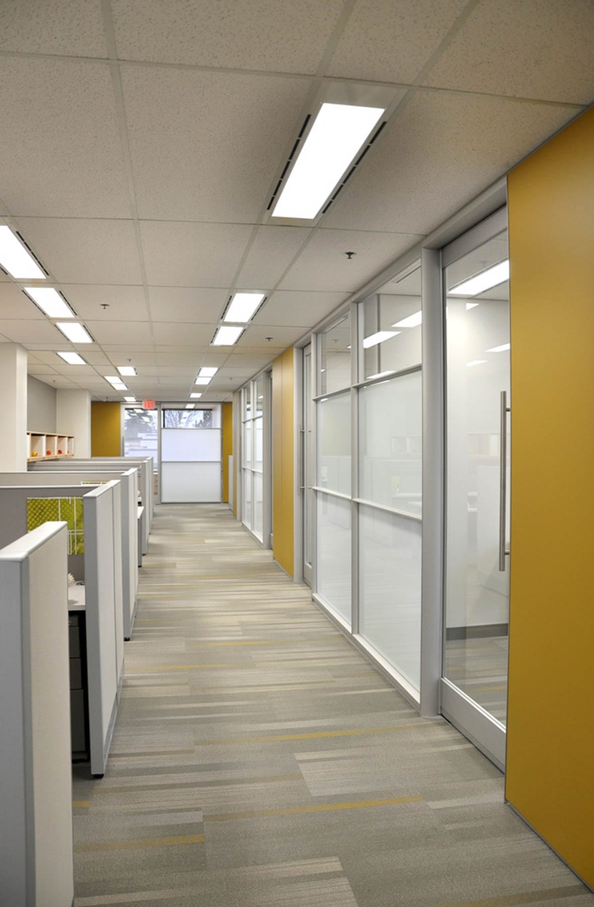 Klein Lyons office corridor and office fronts