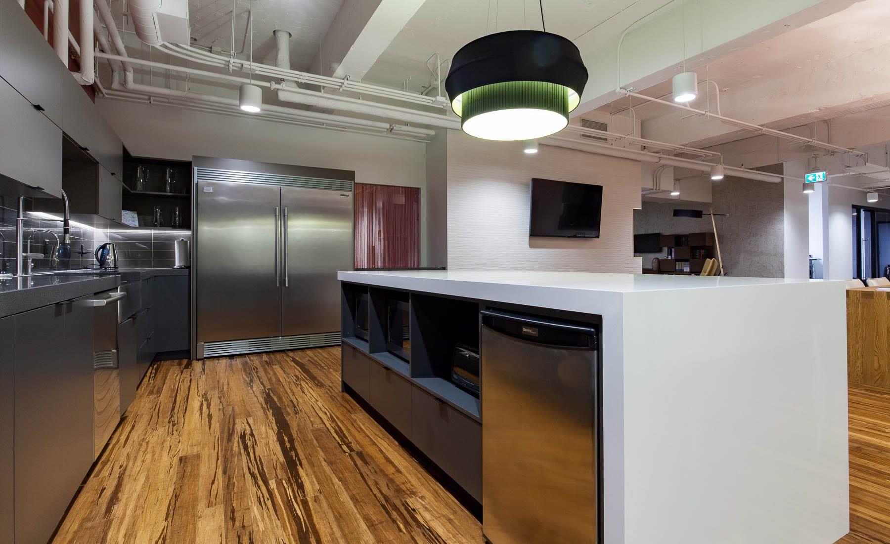 MIABC office's interior improvements - kitchen