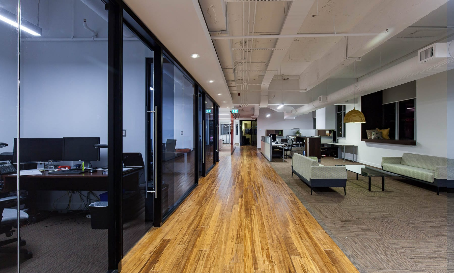 Contemporary Office lounge and private offices at MIABC