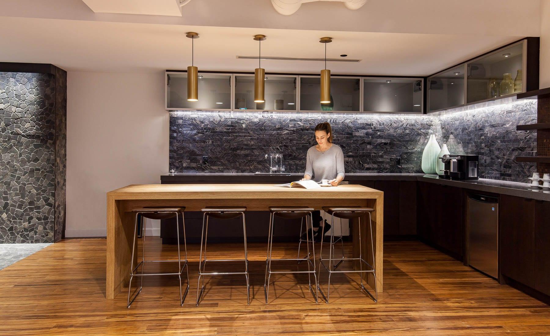 Contemporary Office Design at MIABC - Client lounge