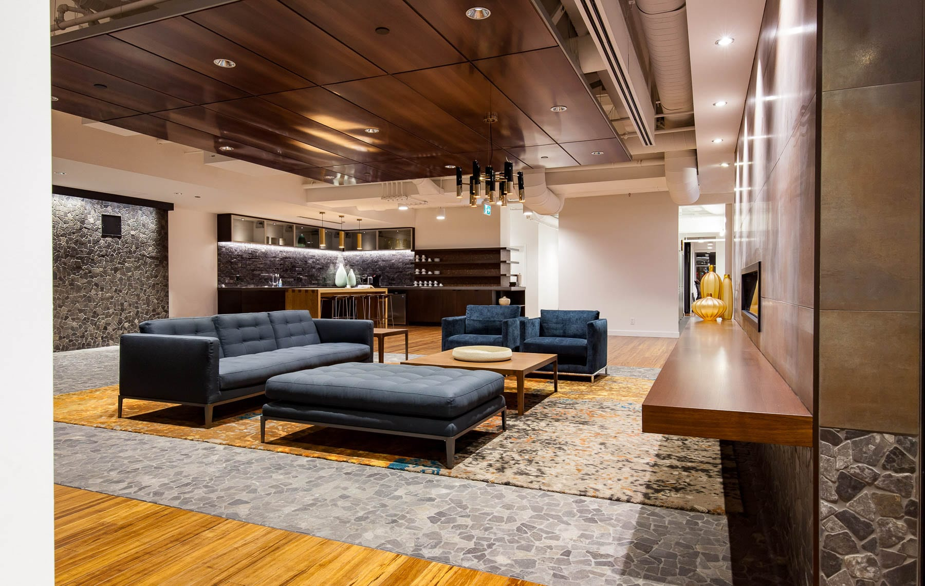 Contemporary Office Design at MIABC - living room style lounge