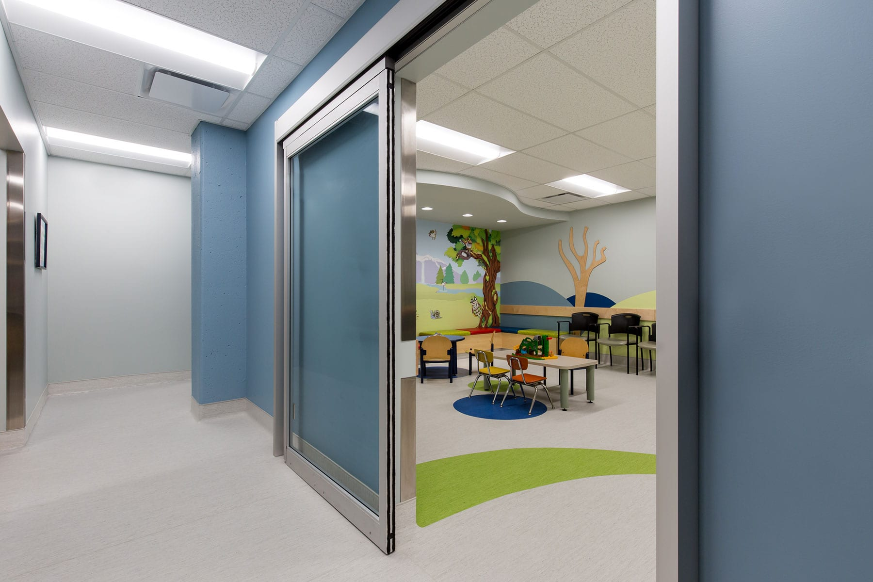 Renovation at BC children and women's hospital - waiting room