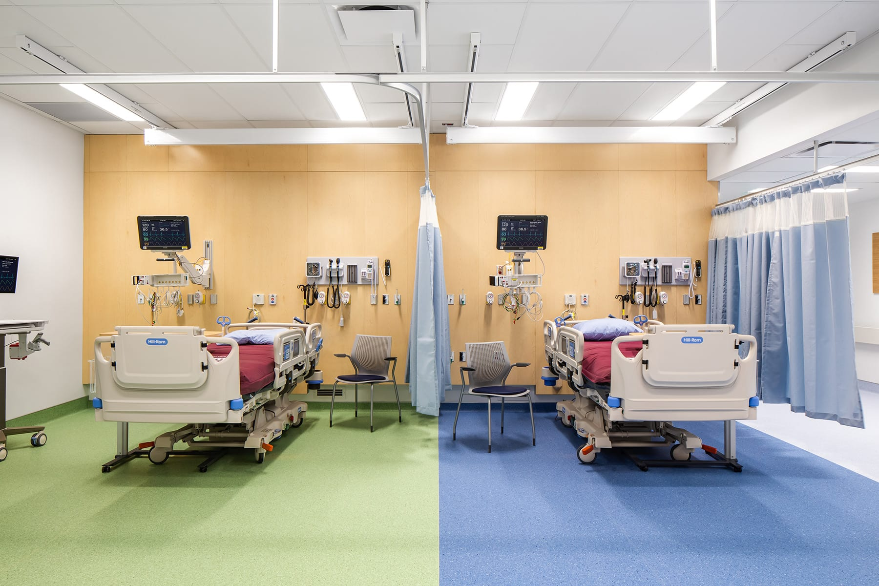 St. Paul's Hospital's high acuity unit - clinical equipment, medical air and gas, intensive care