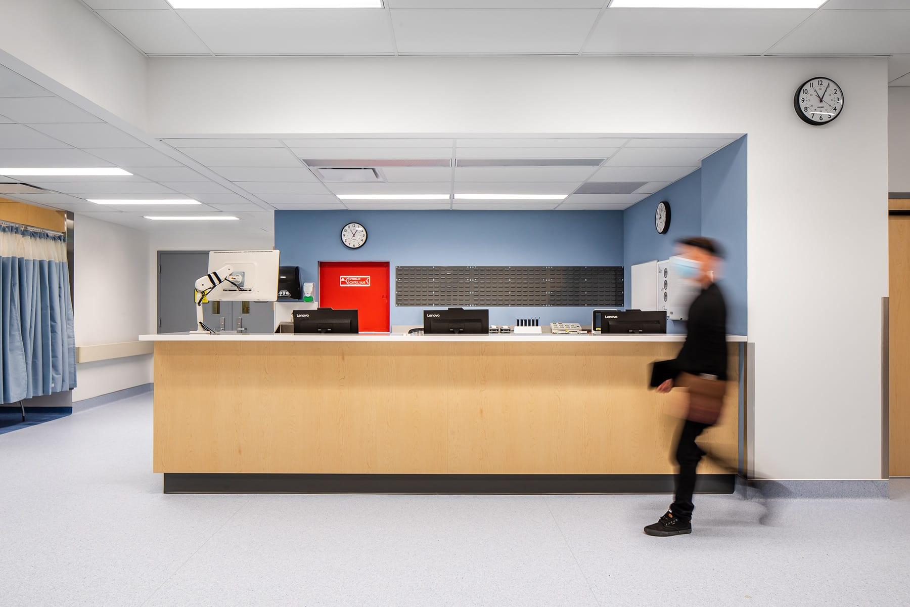 St. Paul's Hospital's high acuity unit - admin area, reception