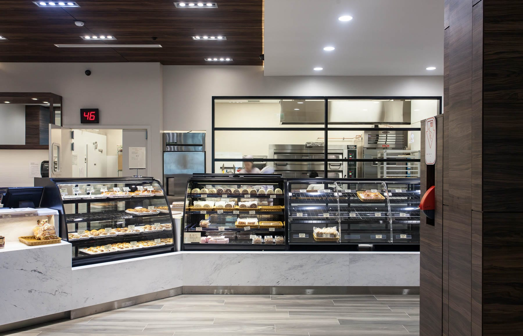 Saint Germain Bakery - new millwork for the point of sale, display units and storage.