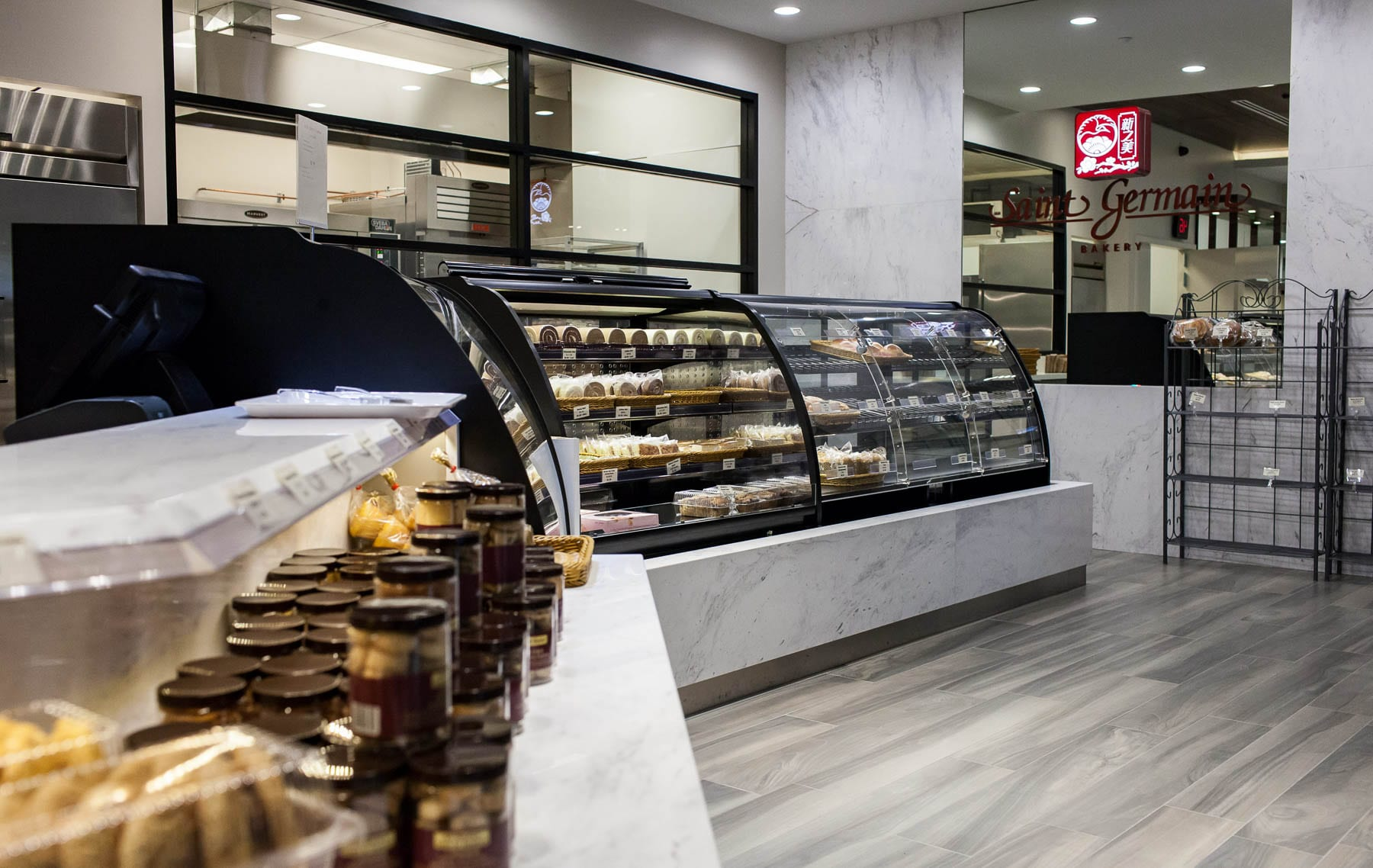 Renovation of Saint Germain Bakery - new millwork for the point of sale, display units and storage