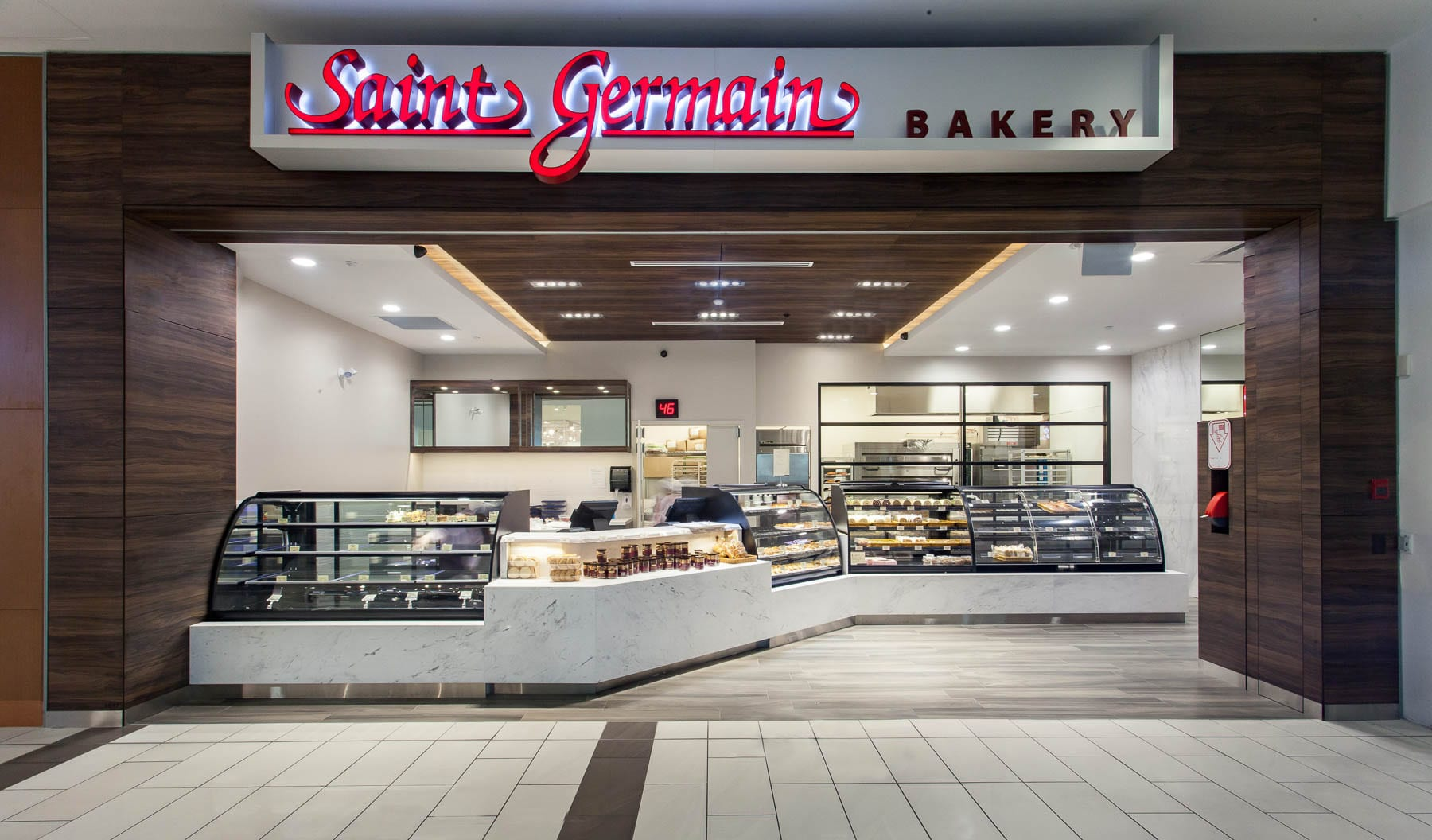 Renovation of full retail unit and storefront for Saint Germain Bakery