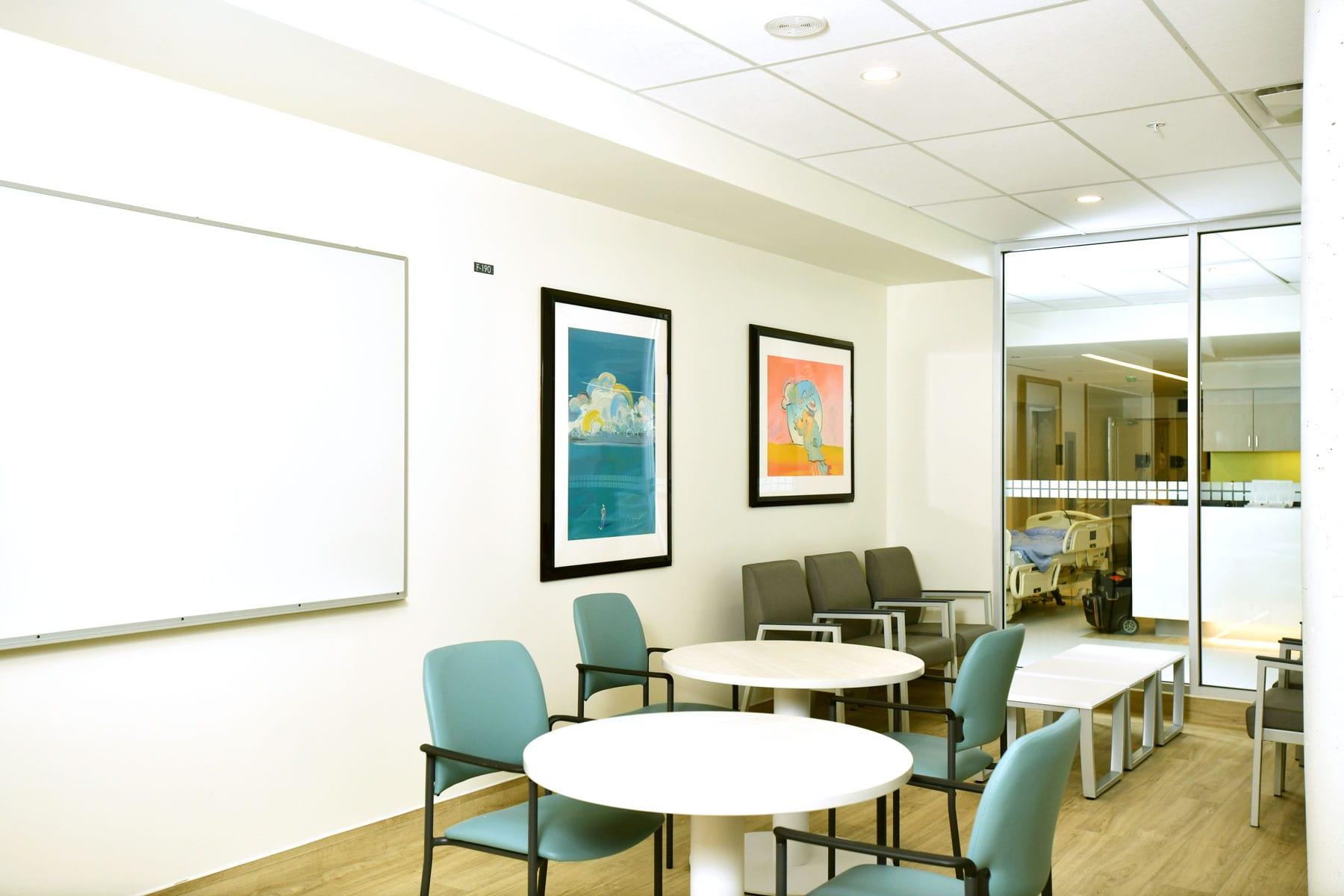 UBC hospital Koerner interior renewal construction project - meeting room