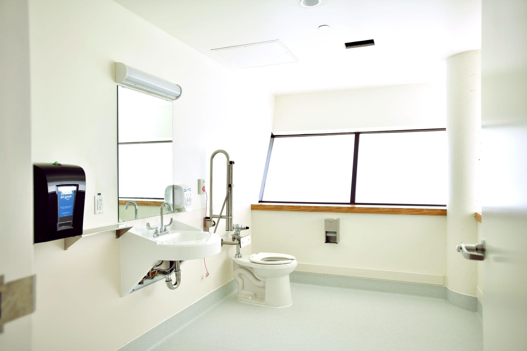 Patient washroom for UBC hospital Koerner interior renovation